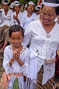 Bali girl and mother